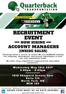 May 10 recruiting event